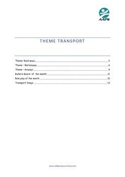 Preschool  Lesson Plan Theme Transport