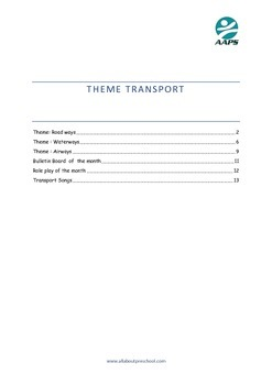 Preschool  Lesson Plan Theme Transport