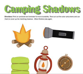 Preschool Lesson Plan and Detailed Activities- Camping Week