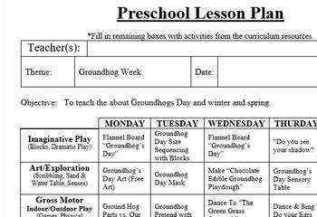 Groundhog Preschool Art Project