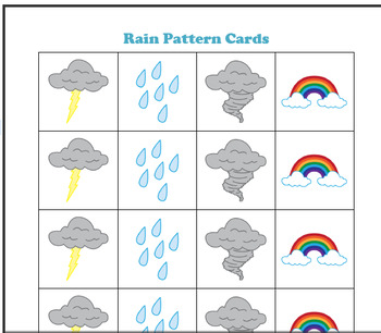 Preschool Lesson Plan and Detailed Activities- Weather Week
