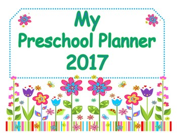 Preschool Lesson Planning Organizer
