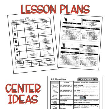 Preschool Lesson Plans- All About Me