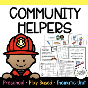 Preschool Lesson Plans Community Helpers By Lovely Commotion Tpt