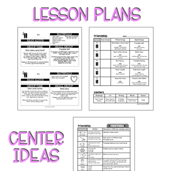 Preschool Lesson Plans- Friendship