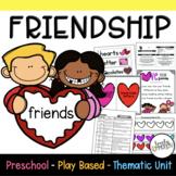 Play Based Preschool Lesson Plans Friendship Thematic Unit