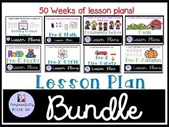 Preschool Lesson Plans Pack