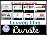 Preschool Lesson Plans Bundle