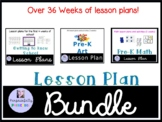Preschool Lesson Plans Pack