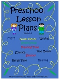 Preschool Lesson Plans Week 1-4