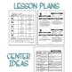Play Based Preschool Lesson Plans BACK TO SCHOOL