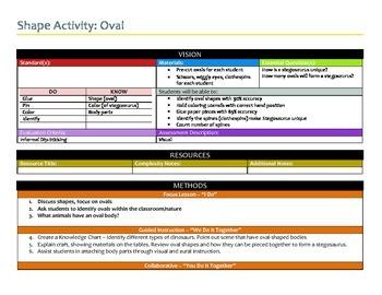 Preschool Lesson Week 2 Shape Activity