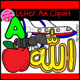 Preschool Letter Aa Beginning Sounds Clipart (Scribble Clips)