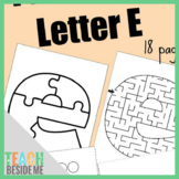 Preschool Letter E Activity Pack