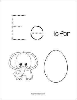 Preschool Letter E Activity Pack