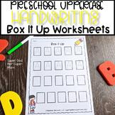 Preschool Letter Handwriting Practice- Box It Up- Capital Letters