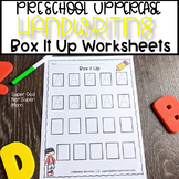 Preschool Letter Handwriting Practice- Box It Up- Capital Letters