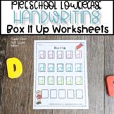Preschool Letter Handwriting Practice   Box It Up Lowercas