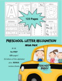 Preschool Letter Recognition Mega Pack - No Prep - 123 pages