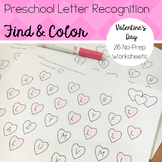 Preschool Letter Recognition Practice - Valentine's Day