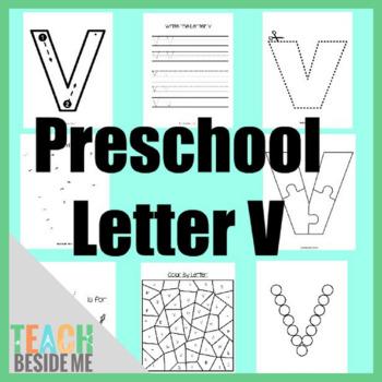 Preschool Letter V Activity Pack