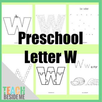 Preschool Letter W Activity Pack