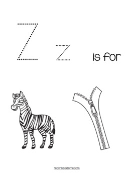 Preschool Letter Z Activity Pack