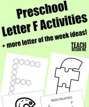 Preschool Letter of the Week Bundle (A-F)