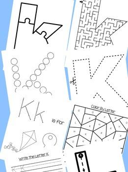 Preschool Letter of the Week Bundle: Letters G-L