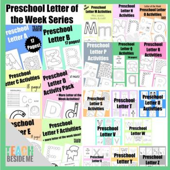 Preschool Letter of the Week- Complete Bundle