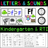 Letters and Beginning Sounds Bundle Kindergarten & RTI