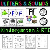 Kindergarten Phonics Letters and Beginning Sounds Bundle