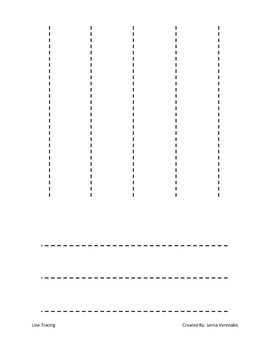 preschool line tracing worksheet by janna verenakis tpt. Black Bedroom Furniture Sets. Home Design Ideas