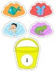 Preschool Literacy Center: Short Vowel Shell & Bucket Match
