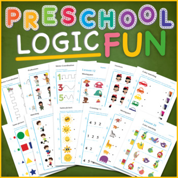 Logic, Matching Shapes, Missing Part, MotorCoordination, Preschool Fun Challenge