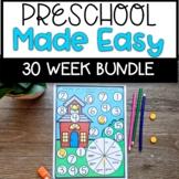 Preschool Made Easy Homeschool Curriculum  Bundle
