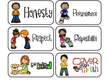 Preschool Manners Flash Cards. Preschool Character Qualities and Manners.