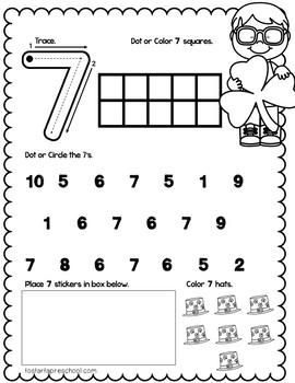 Preschool March Packet