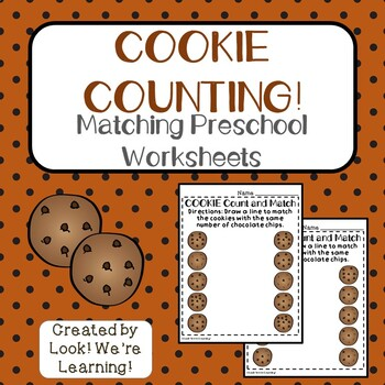 Counting to Ten Worksheets - Cookie Count!