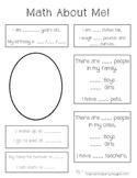 Preschool Math About Me