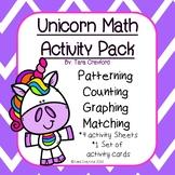 Preschool Math Activities- Unicorn Pack