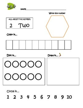 Preschool Math Activity 1-10