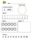 Preschool Math Activity 1-10