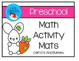 Preschool Math Activity Mats - Bunnies And Carrots