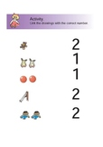 Preschool Math Activity Numbers 1 - 2