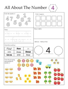 Preschool Math - All About Numbers