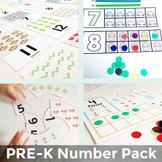 PreK and Kindergarten Number Recognition Activity Bundle