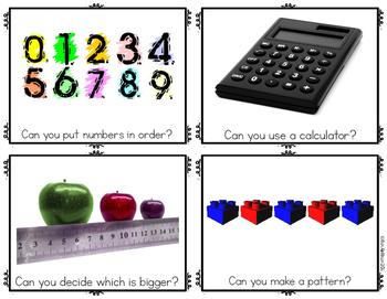 Preschool Math Center Activities