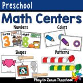 Preschool Math Centers