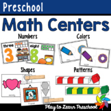 Preschool Math Centers BUNDLE